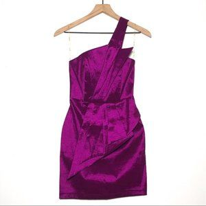 Daisy Fuchsia One Shoulder Cocktail Dress
